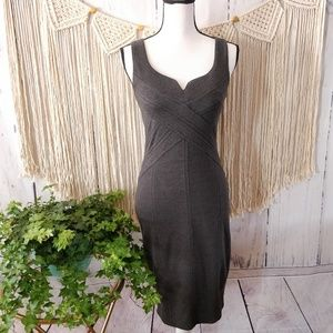 Anthropologie Bailey 44 Gray Sweetheart Dress XS